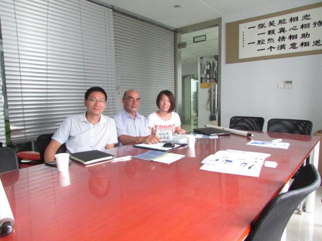 2014年8月25日,Teca-Print工厂负责人莅临我司进一步洽谈后续合作事宜!