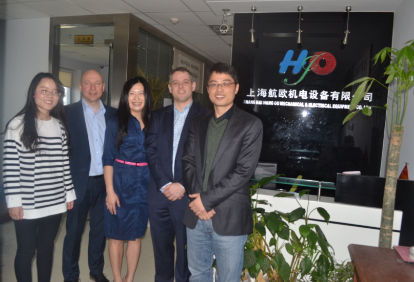 2016年4月8号Helipebs Controls工厂总经理 Andrew Hopcraft及工厂负责人莅临我司