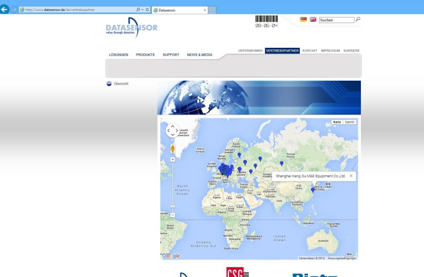 Datasensor工厂授权上海航欧机电设备有限公司总代理